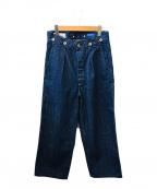 MHL × CANTONOVERALLS(エムエイチエル × キャントンオーバーオールズ)の古着「デニムパンツ」|インディゴ