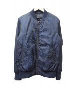 DIESEL BLACK GOLD(ディーゼル ブラック ゴールド)の古着「MA-1ジャケット」 ブルー