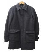 LOUNGE LIZARD(ラウンジリザード)の古着「バルカラーコート」 ブラック×グレー