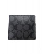 COACH(コーチ)の古着「2つ折り財布」|グレー×ブラック