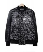 ANREALAGE(アンリアエイジ)の古着「レザースタジャン」|ブラック
