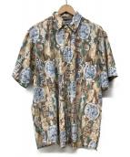 reyn spooner(レインスプーナー)の古着「90s アロハシャツ」|ブラウン×ブルー