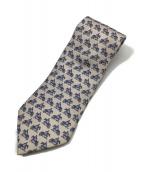 HERMES(エルメス)の古着「ネクタイ」|ピンク×ネイビー