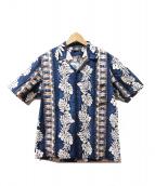 ROYAL CREATIONS(ロイヤルクリエーションズ)の古着「アロハシャツ」|ネイビー