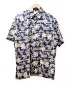 TORI RICHARD(トリリチャード)の古着「アロハシャツ」|ネイビー