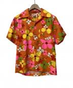 Sears(シアーズ)の古着「70sアロハシャツ」|オレンジ×ピンク