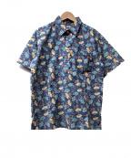 reyn spooner(レイン スプナー)の古着「90s アロハシャツ」 ネイビー