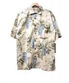 Hilo Hatties(ヒロハッティ)の古着「アロハシャツ」 ベージュ