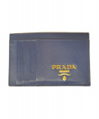 PRADA(プラダ)の古着「カードケース」 ブルー