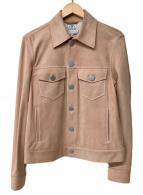 ()の古着「スウェードトラッカーレザージャケット」|ピンク