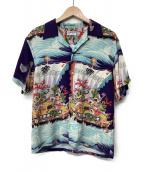 Sun Surf(サンサーフ)の古着「アロハシャツ」 パープル