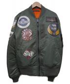 AVIREX(アビレックス)の古着「MA-1フライトジャケット」|オリーブ
