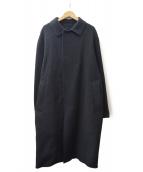 BEAUTY&YOUTH(ビューティーアンドユース)の古着「リバーチェックバルカラーコート」|ブラック