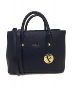 FURLA(フルラ)の古着「2WAYミニトートバッグ」 ネイビー