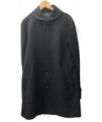 BURBERRY BLACK LABEL(バーバリーブラックレーベル)の古着「カシミヤ混ウールコート」|ブラック
