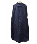 Adam et Rope(アダム エ ロペ)の古着「ステンカラーコート」 ネイビー