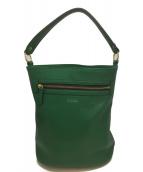 MACKINTOSH PHILOSOPHY(マッキントッシュフィロソフィー)の古着「カラーシュリンクレザーバケツバッグ」|グリーン