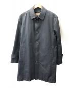 BLACK LABEL CRESTBRIDGE(ブラックレーベル・クレストブリッジ)の古着「ステンカラーコート」|ネイビー
