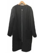 Mila Owen(ミラオーウェン)の古着「ノーカラーコート」|ブラック