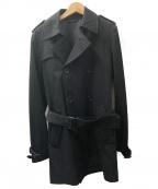 LITHIUM HOMME(リチウムオム・ファム)の古着「トレンチコート」|ブラック
