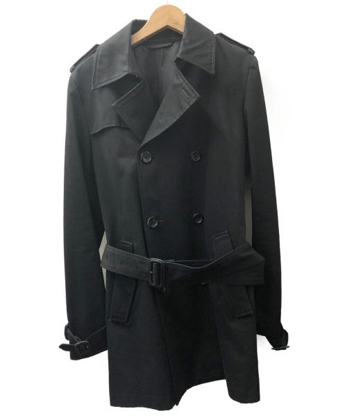 LITHIUM HOMME(リチウム オム)LITHIUM HOMME (リチウム オム) トレンチコート ブラック サイズ:46 春秋物の古着・服飾アイテム