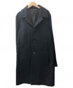 KURO(クロ)の古着「ステンカラーコート」 ネイビー
