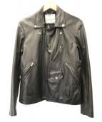 ()の古着「ラムレザーライダースジャケット」|ブラック