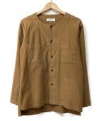 MONKEY TIME(モンキータイム)の古着「ノーカラーシャツ」|ブラウン