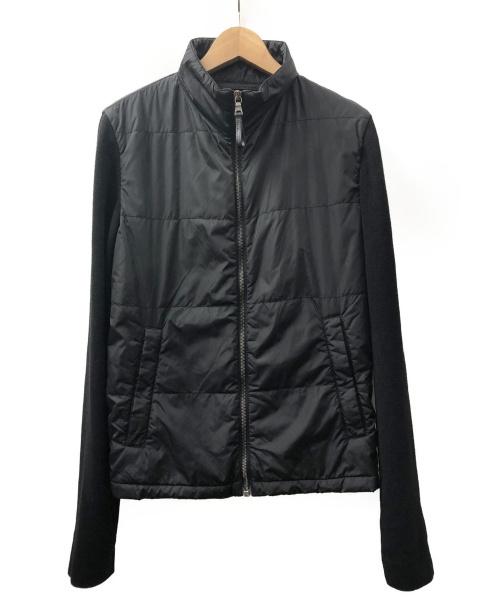 PRADA(プラダ)PRADA (プラダ) 切替ブルゾン ブラック サイズ:L 秋冬物の古着・服飾アイテム
