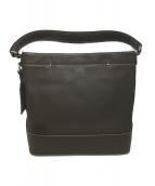 土屋鞄(ツチヤカバン)の古着「スクエアワンショルダーバッグ」|チョコレートブラウン