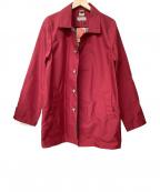 le coq sportif(ルコックスポルティフ)の古着「ステンカラーコート」 レッド