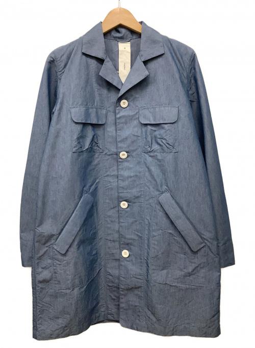 maillot(マイヨ)maillot (マイヨ) ナイロンコットンシャンブレーワークコート インディゴ サイズ:2の古着・服飾アイテム