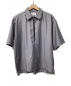 STUDIOUS(ステュディオス)の古着「ハーフジップシャツ」|グレー