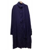 YOHJI YAMAMOTO(ヤマモトヨウジ)の古着「Coat with Stole」|ブルー