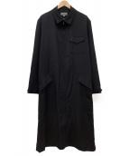 YOHJI YAMAMOTO(ヨウジ ヤマモト)の古着「ジップアップロングコート」|ブラック