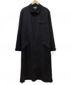 YOHJI YAMAMOTO()の古着「ジップアップロングコート」|ブラック