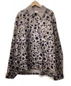 TOMORROW LAND(トゥモローランド)の古着「フラワープリントシャツジャケット」|ベージュ