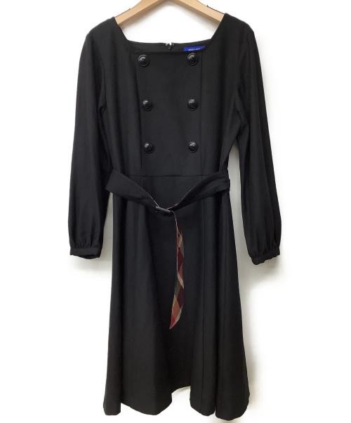 BLUE LABEL CRESTBRIDGE(ブルーレーベルクレストブリッジ)BLUE LABEL CRESTBRIDGE (ブルーレーベルクレストブリッジ) ワンピース ブラック サイズ:38の古着・服飾アイテム