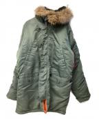 ALPHA()の古着「N-3Bタイプコート」|オリーブ