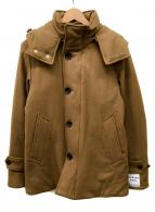 BEAUTY&YOUTH(ビューティーアンドユース)の古着「ライトメルトンダウンコート」|カーキ