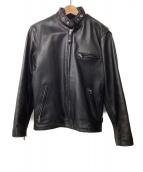 ()の古着「ライナー付きレザージャケット」|ブラック
