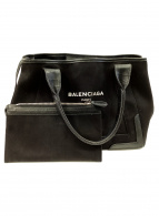 BALENCIAGA(バレンシアガ)の古着「キャンバスハンドバッグ」|ブラック