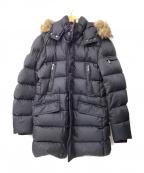 MOORER(ムーレー)の古着「ファー付ダウンコート」 ブラック
