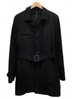 ()の古着「ライナー付ステンカラーコート」|ブラック