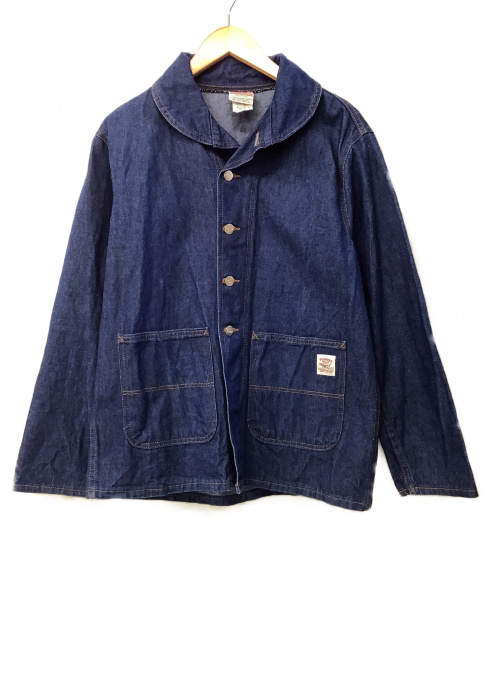 Pointer(ポインター)POINTER (ポインター) カバーオール ネイビー サイズ:Sの古着・服飾アイテム