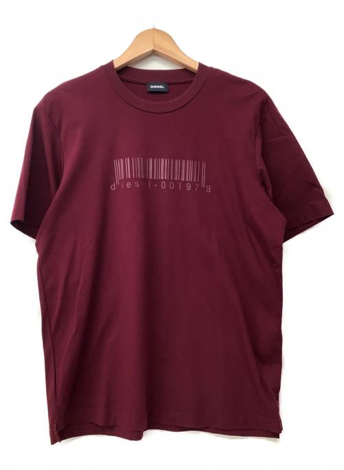 DIESEL(ディーゼル)DIESEL (ディーゼル) Tシャツ ワインレッド サイズ:Sの古着・服飾アイテム