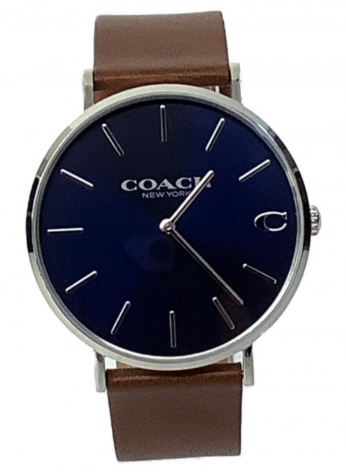 COACH(コーチ)COACH (コーチ) 腕時計 チャールズ 1580 レザーの古着・服飾アイテム