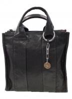 DIESEL(ディーゼル)の古着「2WAYレザーショルダーバッグ」 ブラック×ピンク