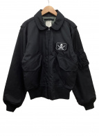HOUSTON(ヒューストン)の古着「フライトジャケット」|ブラック