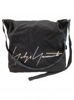 YOHJI YAMAMOTO(ヨウジヤマモト)の古着「ロゴフラップショルダーバッグ」 ブラック